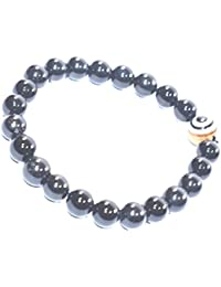 Black Tourmaline With Evil Eye Bead Bracelet Size 8MM, Chakra Balancing , Chakra Healing Stone