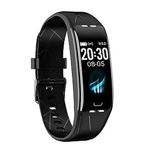 Dkings Smart Armband Wasserdicht IP67 Smart Watch Fitness Tracker mit Herzfrequenz Aktivitätstracker Fitness Uhr mit Schrittzähler,Schlaf-Monitor,Stoppuhr,für Android iOS Handy Herren Damen