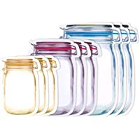MANTRA ENTERPRISE 15 Pcs Mason Jar Bottles Bags, Jar Pouch for Food Storage Bag Jar Pouch for Fridge Ziplock Bags…