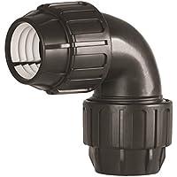 Rc-Junter 5632 - Codo igual, 32 mm, color negro