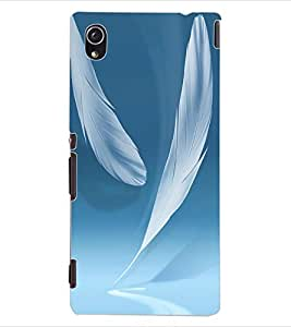 ColourCraft Feathers Design Back Case Cover for SONY XPERIA M4 AQUA