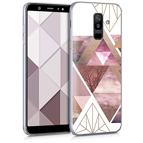 kwmobile Samsung Galaxy A6+/A6 Plus (2018) Hülle - Handyhülle für Samsung Galaxy A6+/A6 Plus (2018) - Handy Case in Rosa Rosegold Weiß