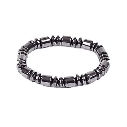 YWRD Magnetische Armbänder, Elegante Titan Gewichtsverlust Magnetperlen Therapie Armband Natürliche Schmerzlinderung Armreifen Ideale Gesundheitswesen Geschenk