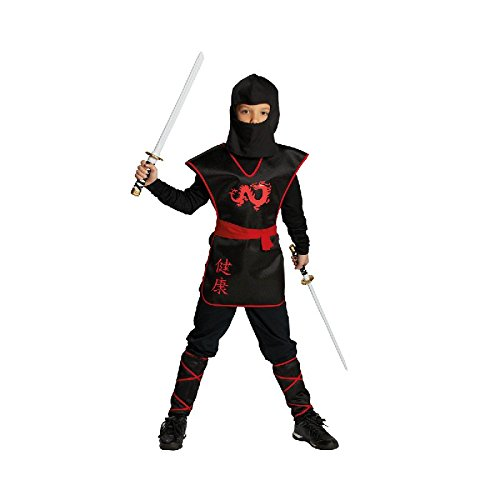 Rubie's Ninja Krieger Kinder Kostüm zu Karneval Fasching Halloween Gr.152