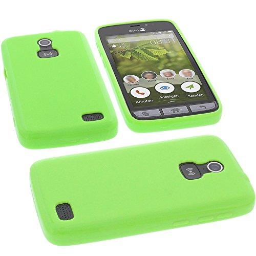Tasche für Doro 8031 Hülle Gummi TPU Schutz Handytasche grün