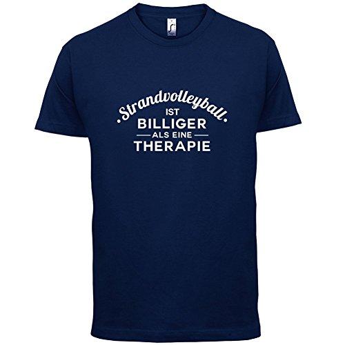 Strandvolleyball ist billiger als eine Therapie - Herren T-Shirt - 13 Farben Navy