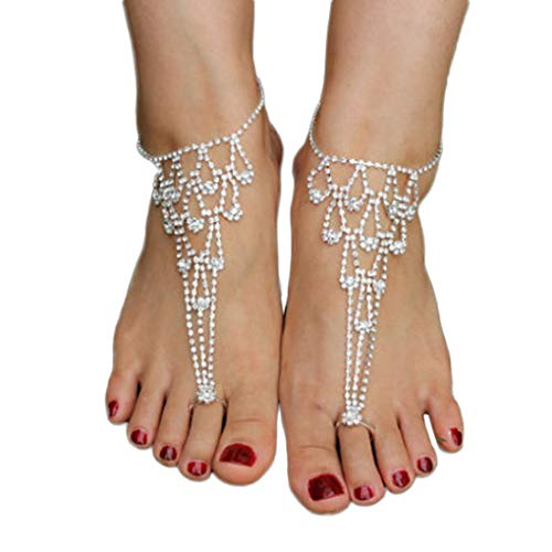 fgyhty Bridal Crystal Beach Barefoot Sandals Foot Toe Anklet Bracelet Women  Fashion Ankle Bracelets Foot Jewelry 0e1417dcf86d