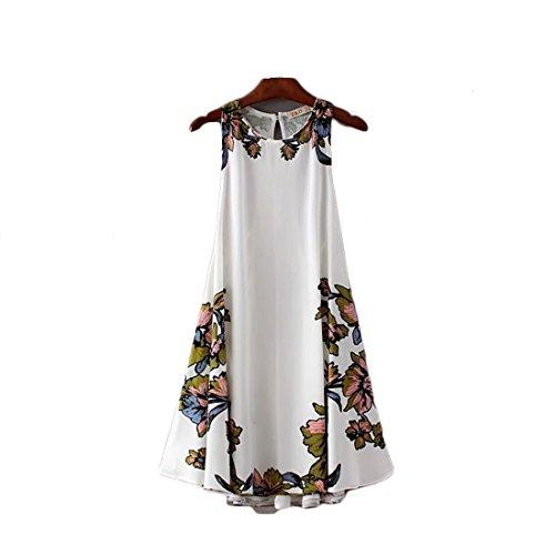 Summer Dress Bohemia Stamp Sleeveless Elegant Skirt Side Straps Dress
