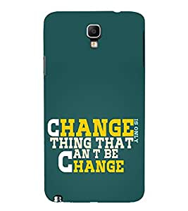 FUSON Change Thing Can Be 3D Hard Polycarbonate Designer Back Case Cover for Samsung Galaxy Note 3 :: Samsung Galaxy Note Iii :: Samsung Galaxy Note 3 N9002 :: Samsung Galaxy Note 3 N9000 N9005