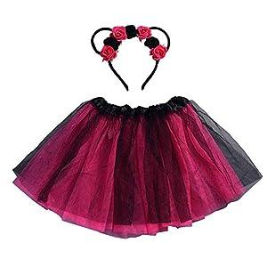 Amphia – (4J-8J Carnival Tutu für Kinder – Tutu-Rock + Haarband – Baby Mädchen Kinder Weihnachten Tutu Ballett Röcke…