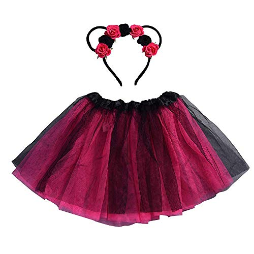 Baby Mädchen Kinder Weihnachten Tutu Ballett Röcke Phantasie Party Rock + Hair Hoop Set