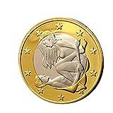 Productos para Adultos, BaZhaHei, 1 pc Sex 6 Monedas de Euro Diferentes Posiciones Monedas duras...