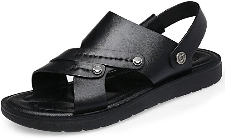 Hombres Sandalias Verano Playa PU Plataforma Antideslizante Suave Transpirable Zapatillas Zapatos
