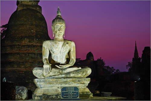 Poster 91 x 61 cm: Wat Mahatat, Sukhothai Historical Park, UNESCO World Heritage Site, Sukhothai, Thailand, Southeast A von Tuul/Robert Harding - hochwertiger Kunstdruck, neues Kunstposter -