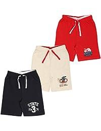 MIDAAS Boy's Cotton Shorts - Set of 3