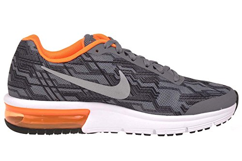 Nike Air Max Sequent Print (Gs), Chaussures de Running Compétition Homme Cool Grey/Reflect Silver-Total Orange