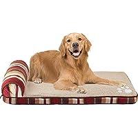 Queta Lamba Cachemira Perro Caseta Cama Perro Mascota Colchoneta Dorado Pelo Grande Perro Lavable Otoño Invierno Perro Mat Stripe Color