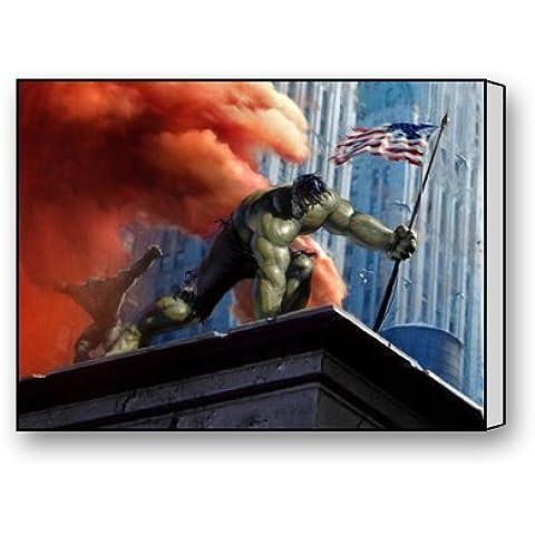 uk-jewelry Custom moderna pared arte decoración para el hogar el increíble Hulk lienzo