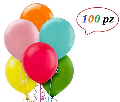 Magazzini gianfreda -palloncini in lattice ,confezione da 100 pezzi |colori assortiti| misura: 12