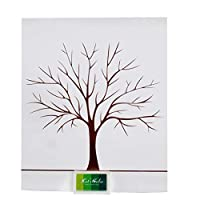 FISHSHOP FingerPrint Tree For Wedding Customers Book Birthday Party Guest Signature Wishing Tree Finger Painting 4 Colors Ink Pads Thumbprint Tree For Guest Books