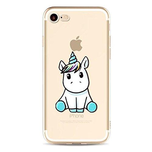 funda iphone 6 unicornio,MUTOUREN TPU silicona Transparente Ultra Fina Cubierta Carcasa para iPhone 6/6S 4.7 - unicornio 05