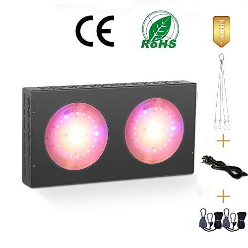 MEIZHI COB 600W LED Grow Lampe CREE LED Chips Pflanzenlampe Vollspektrums High Par Value and High Lumen for Greenhouse Gemüse und Blumen Hydroponik mit Rope Ratchet (Cree-lampen)