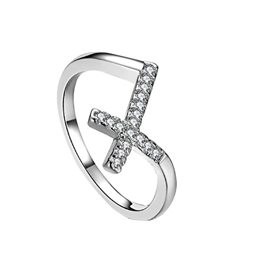 dontdo Damen Gürtel silber silber US 7 (Guard Ring Vintage Hochzeit Gold)