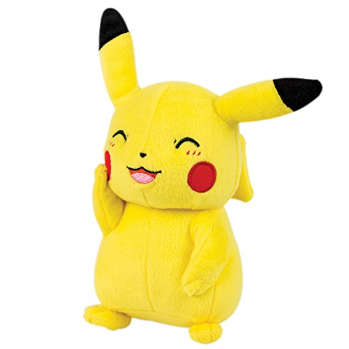 Pokemon Pikachu 8 Inch Plush Toy - Happy Pikachu Pose