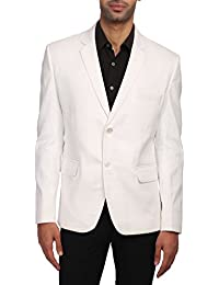 Wintage Men's Linen Tailored Fit Solid Evening / Casual Blazer Coat Jacket : Multiple Colors Inside