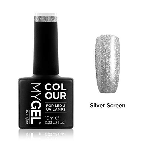 MyGel Nagellack von MYLEE (10ml) MG0106 - Silver Screen UV/LED Nail Art Maniküre Pediküre für den professionellen Einsatz im Wohnzimmer und zu Hause - Langlebig und einfach anzuwenden