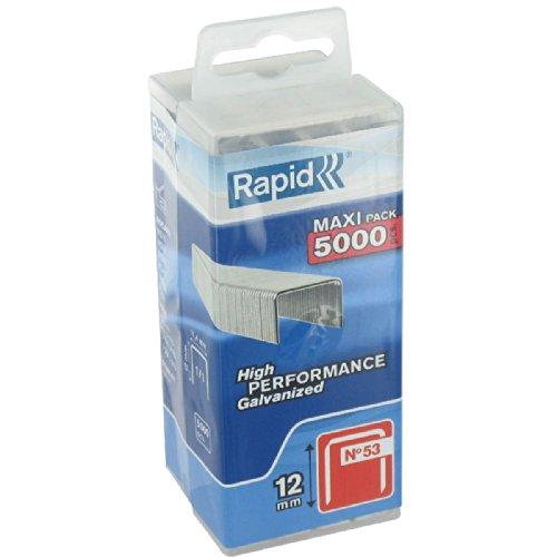 Agrafe n°53 Rapid Agraf - Hauteur 12 mm - 5000 agrafes