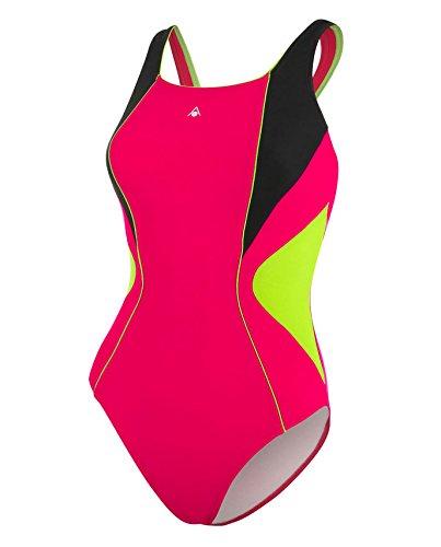 Aqua Sphere Chelsea maillot de bain pour femme–Rose foncé/noir, 101,6cm