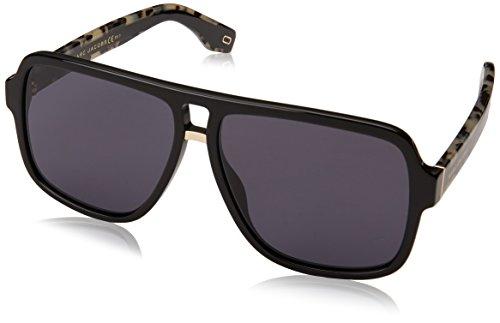 Marc Jacobs kultige Streifen Oversize Quadrat Piloten Sonnenbrille in schwarz MARC 273/S 807 58 Black Grey 58