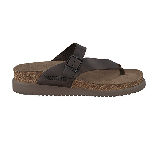 Mephisto Womens Helen Brown Leather Sandals 37 EU