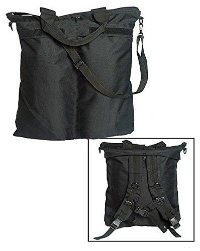 Imagen de bolsa  porta casco militar con correas mil tec, negro