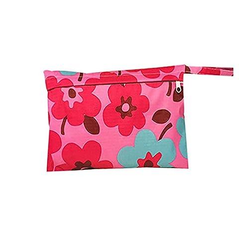 nighteyes66Baby Kleinkind Wasserdicht Windel Tasche mit Reißverschluss wiederverwendbare Tuch Wickeltasche