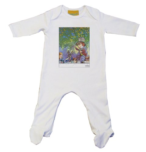 Alice in Wonderland Mad Hatter alice001 Baby Grow -
