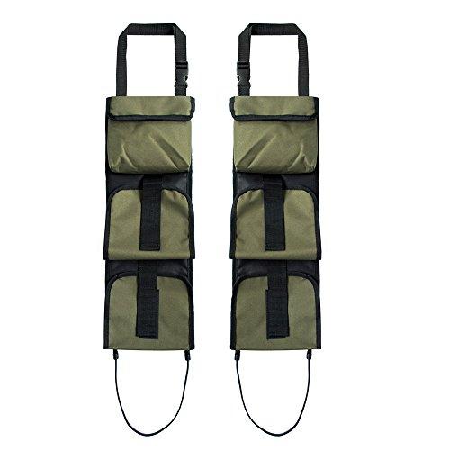 DETECH 1 para Truck Front Seat Storage Gun Sling Jagd Auto Kleiderbügel Rifle Carrier Pouch Tasche Mit Taschen Verdeckte Seat Gun (Autos Verdeckte Para)