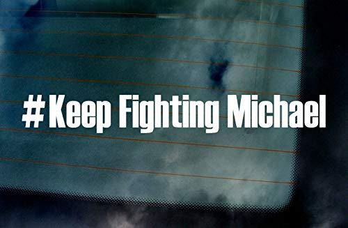 Keep Fighting Michael Schumacher 7 Times World Champion Car Van Window Windscreen Bumper Vinyl Die Cut Custom Stickers Decals Graphics Hot Pink 300mm x 36mm -