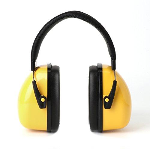 ECMQS Gehörschutz für Kinder & Jugendliche | 30dB NRR/35dB SNR Kompakt, Komfortabel und Faltbarer Gehörschützer | Verstellbarer Ohrschützer (Gelb)