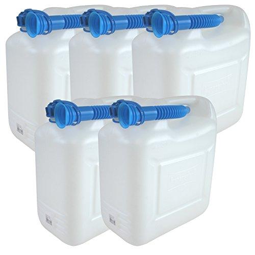5x Wasserkanister ECO 10 Liter mit Rohr 5er Set Kanister Camping Wassertank NEU