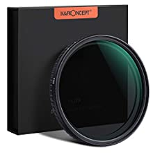 K&F Concept 77mm Variable ND Filter Adjustable Fader Neutral Density ND2 - ND32 Filter, NO Spot X Black X Issue, MRC 18-Layer, Ultra Slim, Waterproof