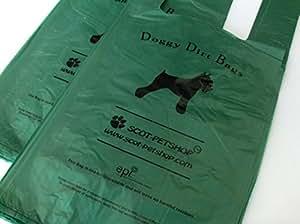 Scot-Petshop Biodegradable Dog Poop Bags x 100   Large Green Dog Poo Waste Bags