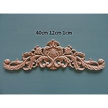 Decorative wooden large center applique onlay furniture moulding W48