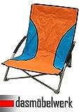 dasmöbelwerk Strandstuhl Campingstuhl Klappstuhl Summer Beach Chair mit Transporttasche Orange