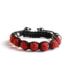 Bracelet shamballa 7 Perles Strass identiques + 6 Hématites