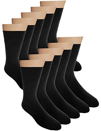 Cliff Edge 10 Paar hochwertige Premium Herren-Damen-Socken | atmungsaktive Socken aus gekämmter Baumwolle (47-50, Schwarz - 10 Paar)