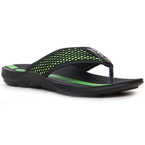Antiscivolo sulla parte frontale, da uomo, con motivo a Sandali a infradito da donna, stile Casual, motivo scarpe, Verde (verde), 40,5 EU