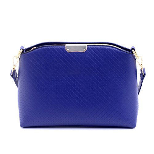 Donna Lady Fashion Diamond Pu Cuoio Satchel Crossbody Borsa A Tracolla Tote Multicolor Blue