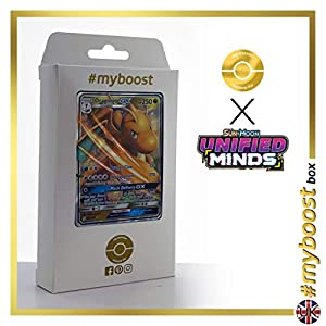 Dragonite-GX 152/236 - #myboost X Sun & Moon 11 Unified Minds - Box de 10 cartas Pokémon Inglesas